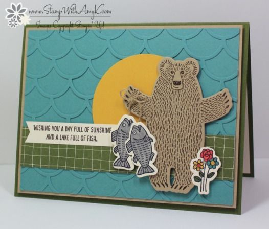handmade card: Bear Hugs ... stamped and die cut elements ... great for a male ... found on Stamp With Amy K ... Stampin' Up!