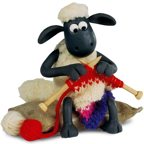 Shaun knitting from Wallace & Grommit's A close shave