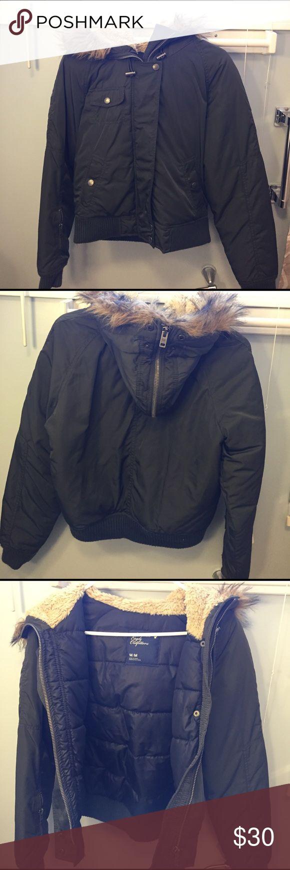 American eagle jacket size medium American eagle jacket size medium. EUC beautiful olive green American Eagle Outfitters Jackets & Coats