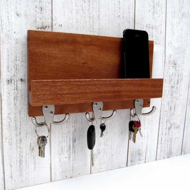 Excited to share the latest addition to my #etsy shop: Key holder for wall, modern entryway organizer, mail and key rack, mail shelf, key storage, leash hanger, mail organizer, wooden key hanger. http://etsy.me/2DSfuD1 #furniture #storage #housewarming #valentinesday #