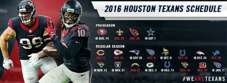 2016 Houston Texans schedule