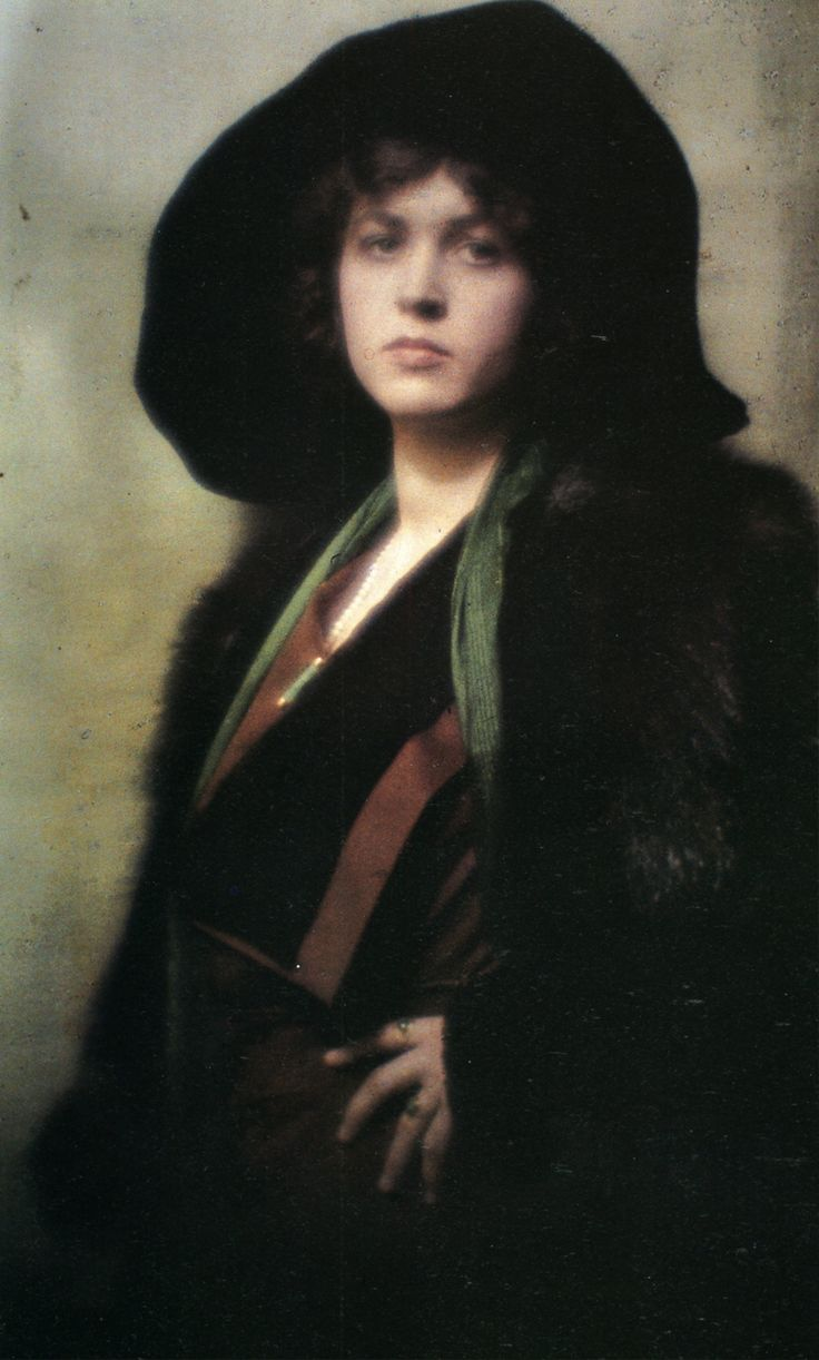 arnold genthe - portrait, autochrome