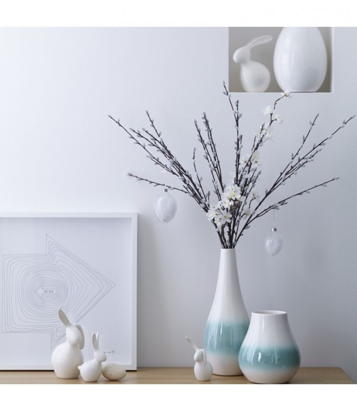 Vaas Nido van Leonardo: Zachte kleuren voor het voorjaar en mooi met een paar (paas)takken. #decoratie #Easter