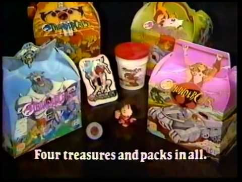 ThunderCats Burger King Kids Meal Pack commercial 1986 - YouTube