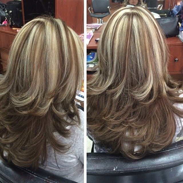 Chunky Highlights Highlighted Streaked Foiled