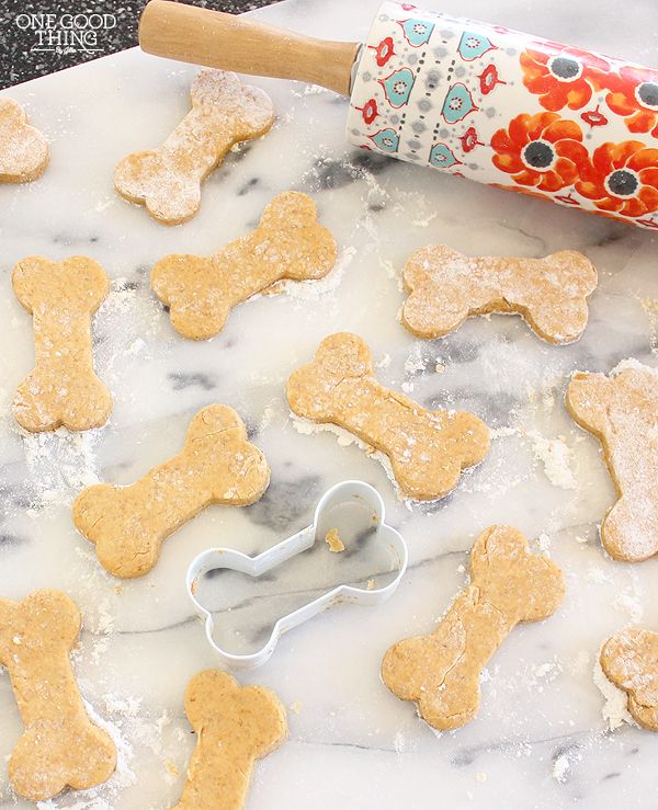 Something for our four-legged friends!   Make Your Own Easy & Healthy Homemade Doggie Treats | One Good Thing By Jillee