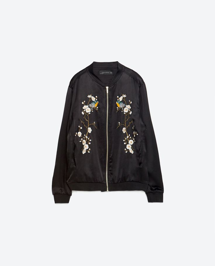 blouson bomber brod fleurs bombers femme zara belgique. Black Bedroom Furniture Sets. Home Design Ideas