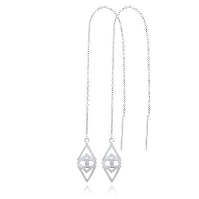 ORUS EARRINGS IN STERLING SILVER. Metal: Satin polished 925 sterling silver with white rhodium plating. See more at www.gittesoee.com