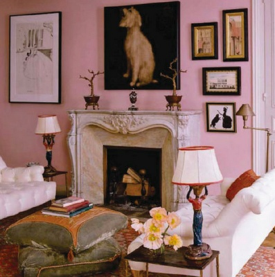 Fireplace   Art On Walls   Paint And Colour   Pink! Part 92