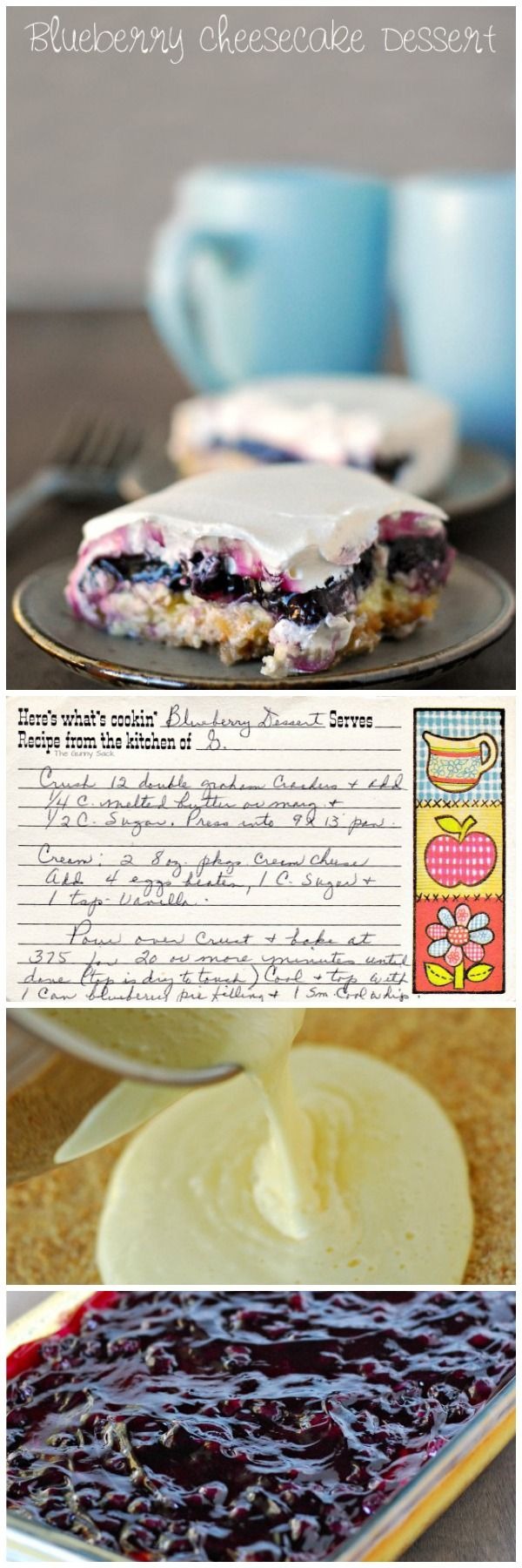 Easy and delicious Blueberry Cheesecake Dessert recipe.