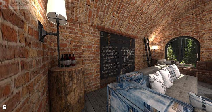Adaptacja starej stodoły - zdjęcie od Rajek Projektowanie Wnętrz - Salon - Styl Industrialny - Rajek Projektowanie Wnętrz