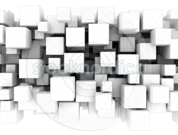 +stocknordica.com   3D wire frame white boxes   www.stocknordica.com