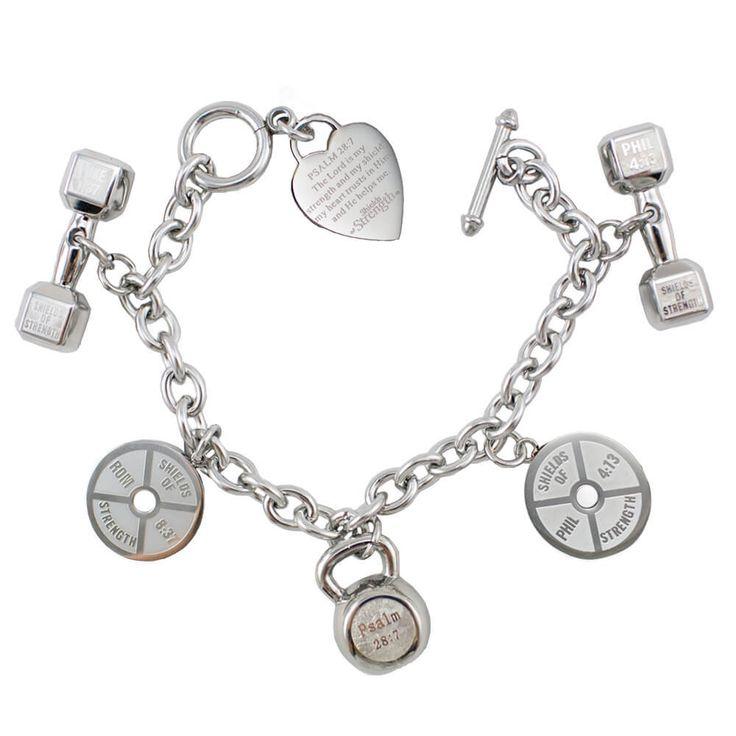 Shields of Strength - 5 Charm Stainless Steel Fitness Bracelet, $199.99 (https://www.shieldsofstrength.com/5-charm-stainless-steel-fitness-bracelet/)