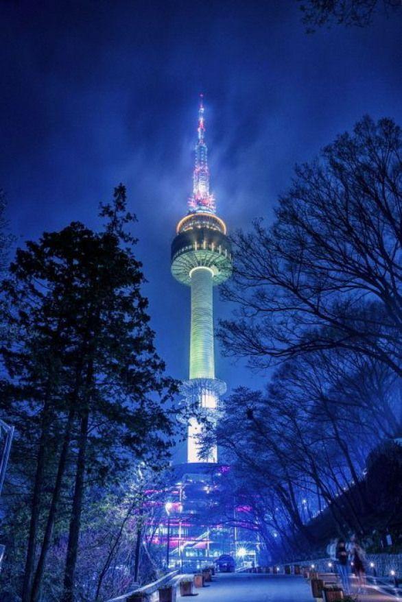 Namsan Seoul Tower Southkorea South Korea Travel Seoul Attractions Namsan Tower Seoul Korea Travel