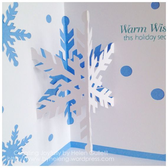 SNOWFLAKE POP UP CARD - SOUS Die Cut Challenge 12/27/2013