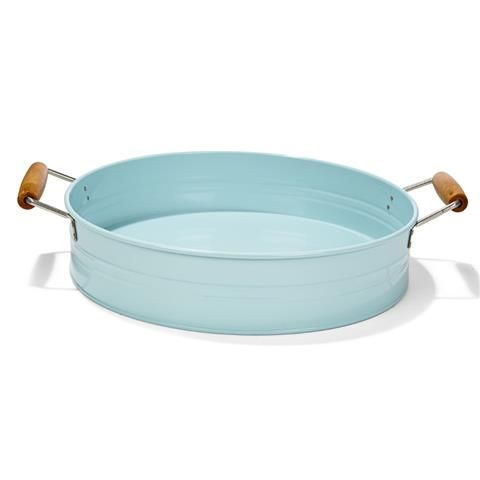 Metal Tray with Handles - Sky Blue | Kmart