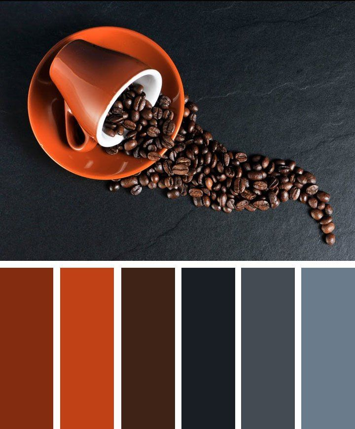 Coffee grey and terracotta color scheme #color #inspiration