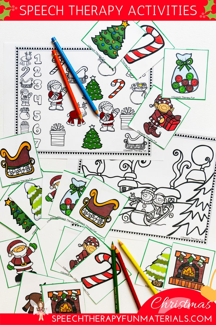 Coloring activities speech therapy - Free Christmas Language And Articulation Activities For Speech Therapy