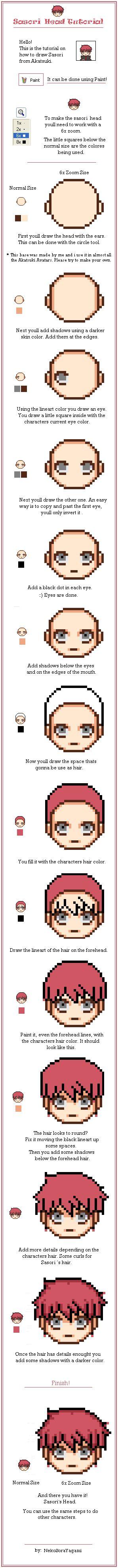 Sasori Pixel Tutorial by NekoSoraYagami