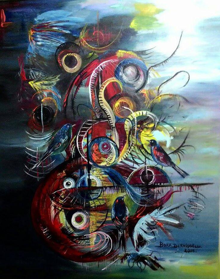 Kuş Rüyası - 44 / Bird Dream - 44 #Tuval üzerine #Akrilik / #Acryliconcanvas 80cm x 100cm 7.500₺ / 2.100$  #gallerymak #sanat #ig_sanat #resim #tablo #sergi #ressam #atolye #sanatsal #cagdassanat #modernsanat boradervisoglu #kuş #kübizm #kubizm #bird #cubism #cubist #artgallery #contemporaryart #painting #artlovers #artcollectors #acrylicpainting #masterpiece
