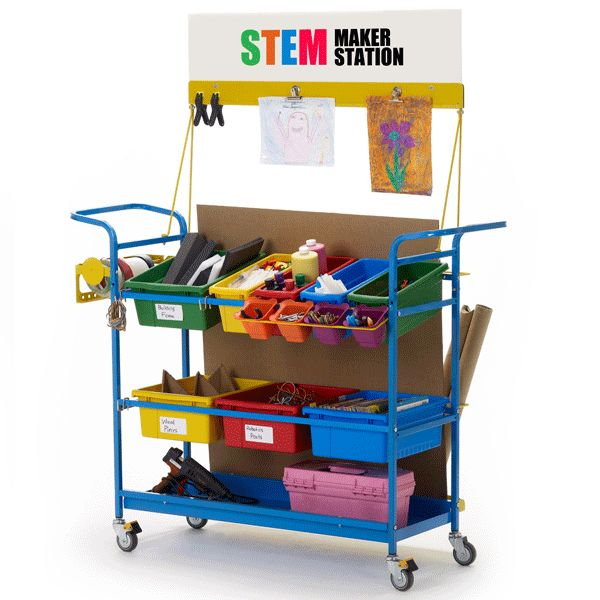 Keep Your STEM Materials Organized Put more emphasis on learning through building and provide memorable, hands-on experiences with the Copernicus STEM Maker Station. The handy storage unit allows you