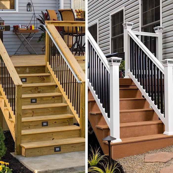 Make Your Deck Stand Out By Updating The Railings. On Wood