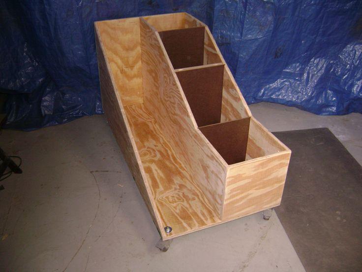 scrap lumber bin -