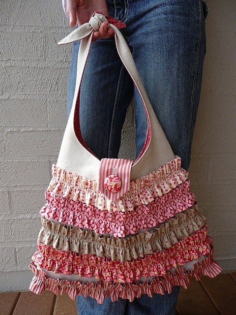 Bloom and Blossom's.  Ruffled bag