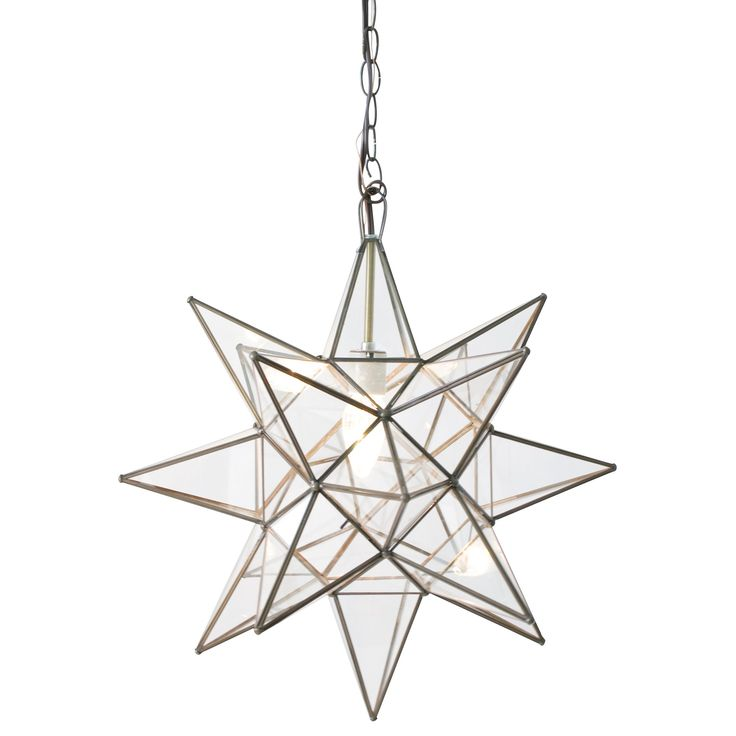 Clear Star Chandelier by Worlds Away.  Available in 3 sizes.  *EXTRA LARGE NOW IN STOCK