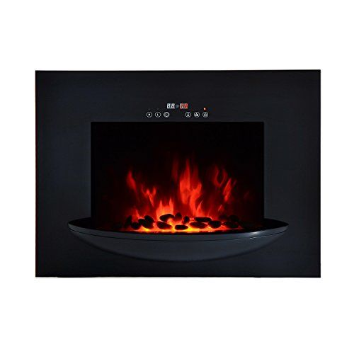 HomCom 26 1500W Touch Screen Multi-Color Wall Mounted Electric Fireplace w/Remote  Black For Sale https://outdoorfirepitusa.review/homcom-26-1500w-touch-screen-multi-color-wall-mounted-electric-fireplace-wremote-black-for-sale/