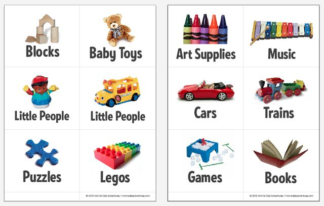 Printable Toy Bin Labels