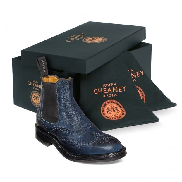 Cheaney Victoria | Ladies Wingcap Brogue Chelsea Boot |Made In England