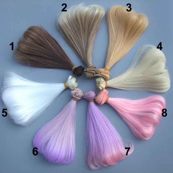 Купить 1 шт. 15 см жаропрочных высокая температура вьющиеся волосы куклы для 1/3 1/4 1/6 BJD куклы diy волоси другие товары категории Аксессуары для куколв магазине Top1 Fashion storeнаAliExpress. кукла цвет волос и куклы волосы стиль