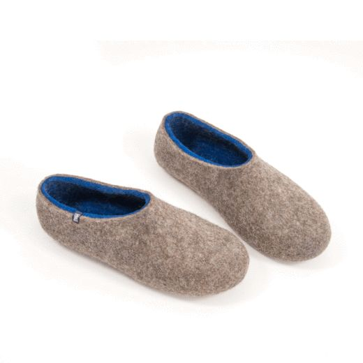wooppers felted slippers DUAL-NATURAL-blue