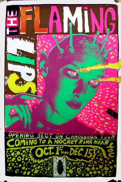Flaming Lips concert poster