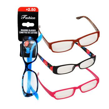 Stylish Reading Glasses with +2.50 Diopter (Set of 3)