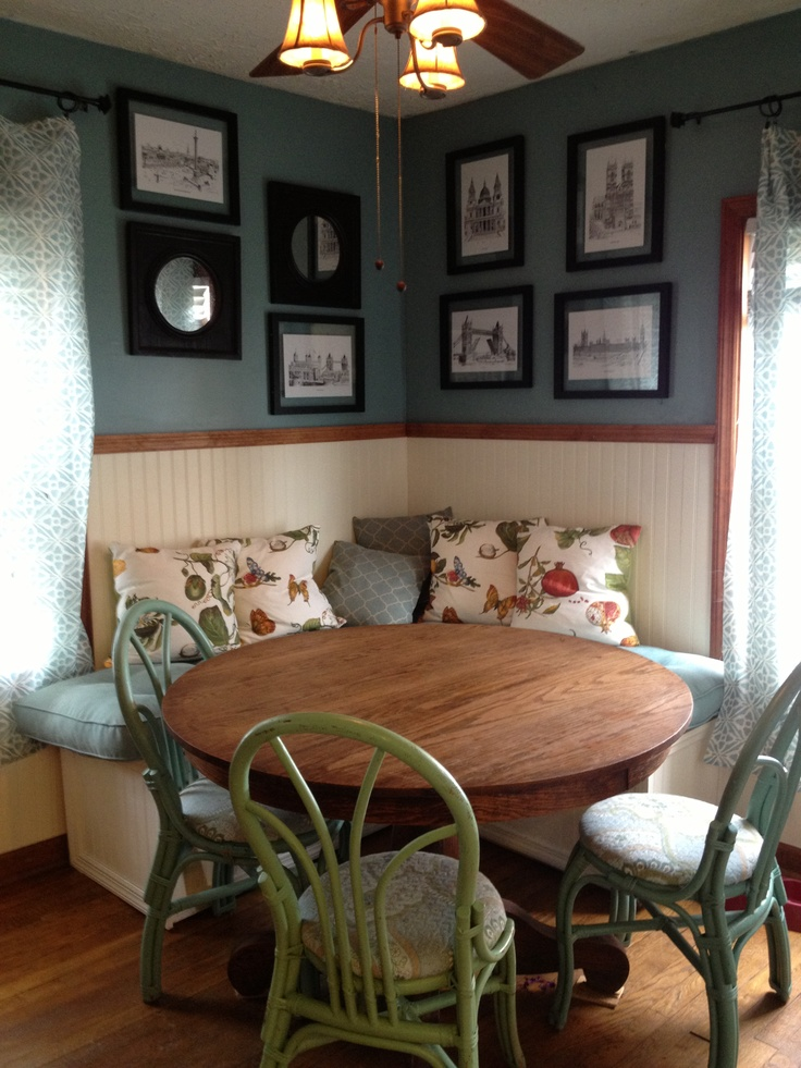 126 best images about diningroom tables w bench seating for European breakfast nook