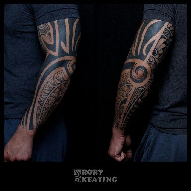 Tribal tattoo by Rory Keating - Guru Tattoo - San Diego, CA. #gurutattoo