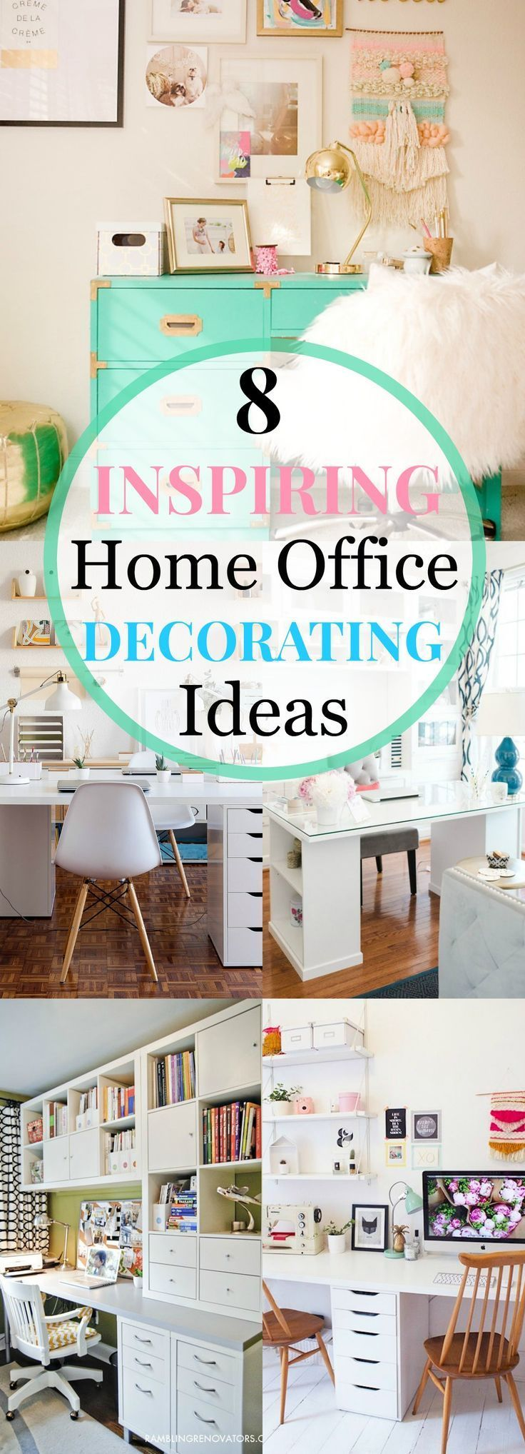 Best Home Office Decorating Ideas For Her Images On Pinterest - Cute office decorating ideas