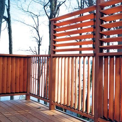 Flexfence louver hardware system for decks fences for Privacy shutters for deck