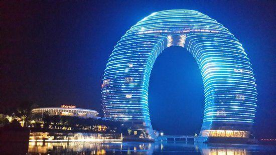 Resort maravilhoso que fica na China. Tem a assinatura da rede de resorts Sheraton.