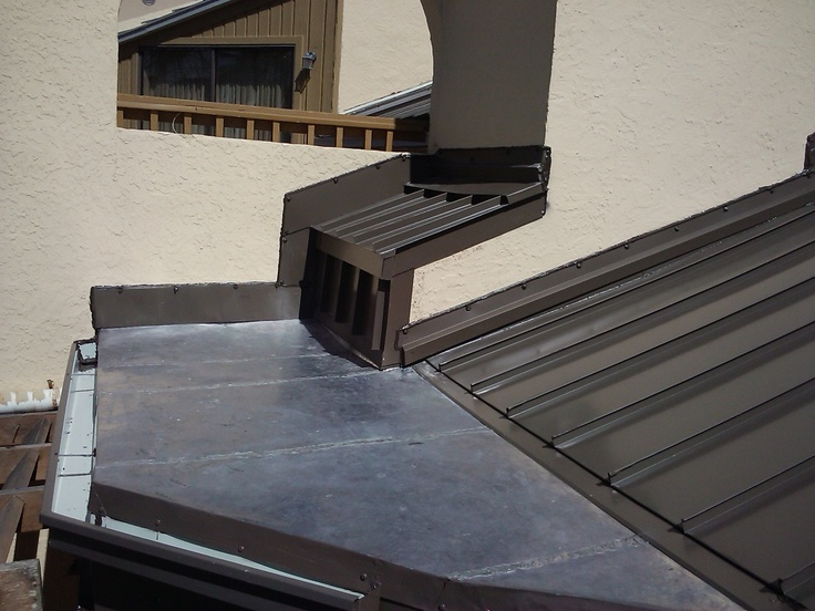 Standing Seam Metal Roofing With Soldered Lead Coated