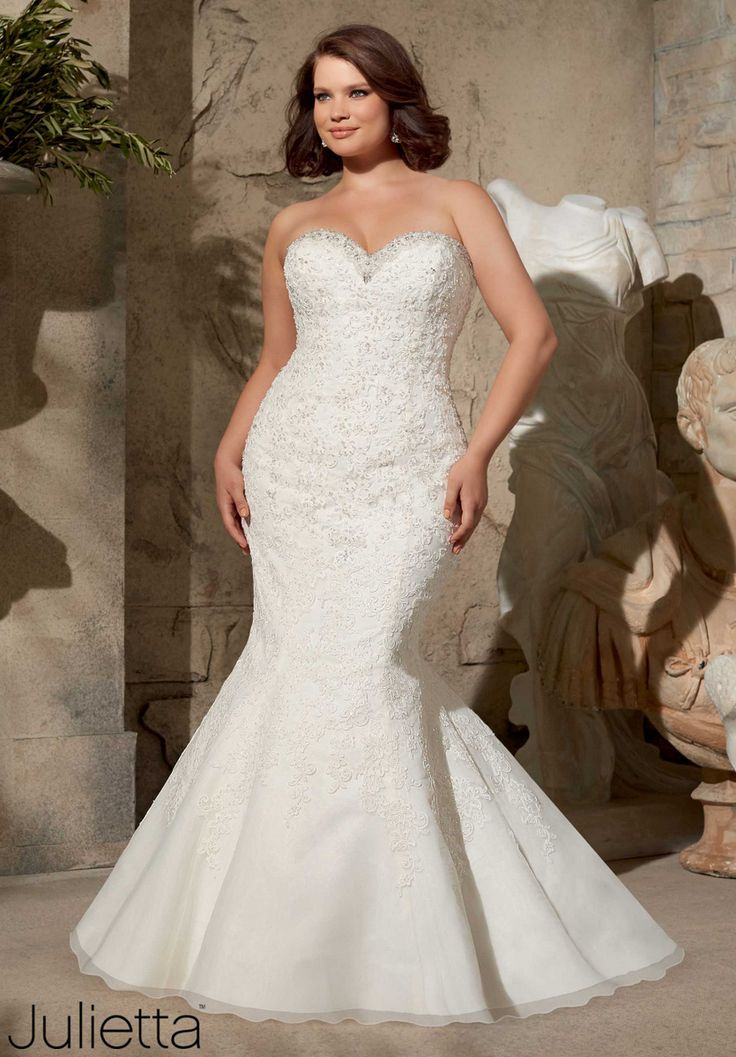 Superb  best Queen Size Wedding Dresses images on Pinterest Marriage Wedding dressses and Plus size wedding gowns