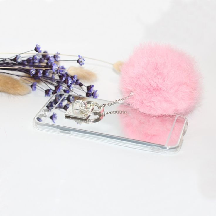 Luxury Mirror Tassel Fake Rabbit Fur Ball For Samsung J1 J2 J3 J5 J7 J120 J210 J310 J510 J710 Prime 2016 Case Coque Fundas Capa