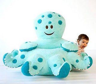 Ollie Octopus Plush Chair