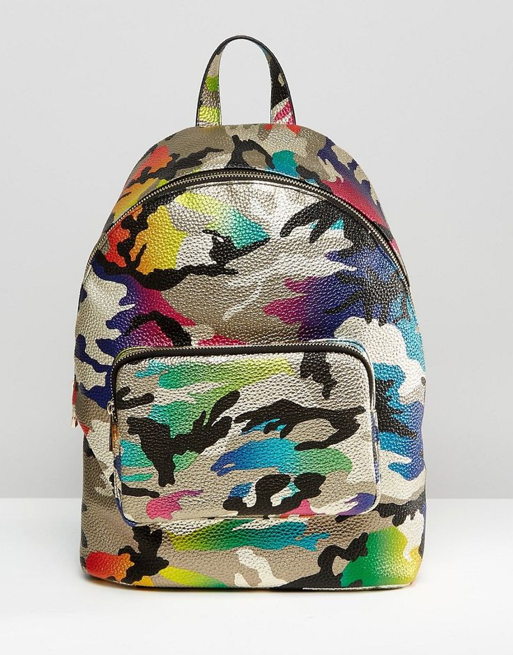 Image 1 of ASOS Metallic Camo Backpack