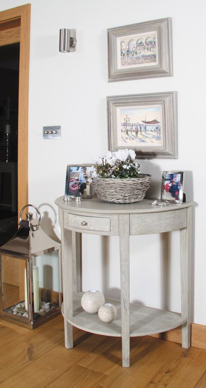 mirror half moon demilune sofa console table small with drawer uk vintage sand mango wood