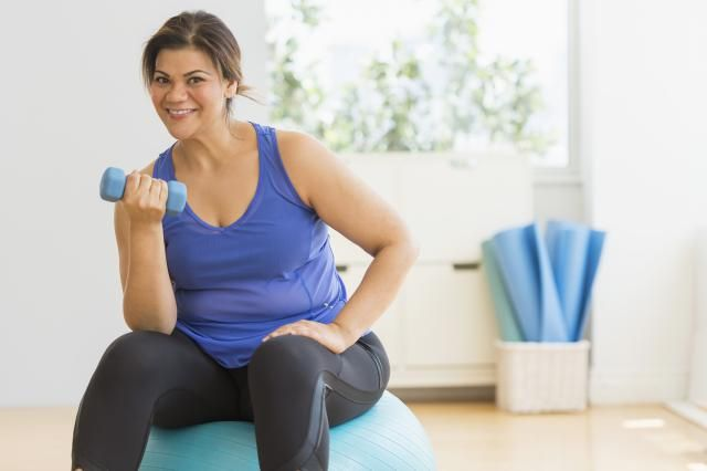 If you're overweight or obese, maybe you think - I'm too overweight to lift weights!  Well, you're not.  If your body needs more support for strength training, try this total body seated workout.