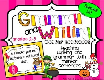 Teaching Writing and Grammar with Mentor Sentences - $4.75: Art English, Grade Writing, Classroom Studs, Ela Education, Mentor Sentence, Education Language Art, Teaching Writing, Writing Language Art, 3Rd Grade
