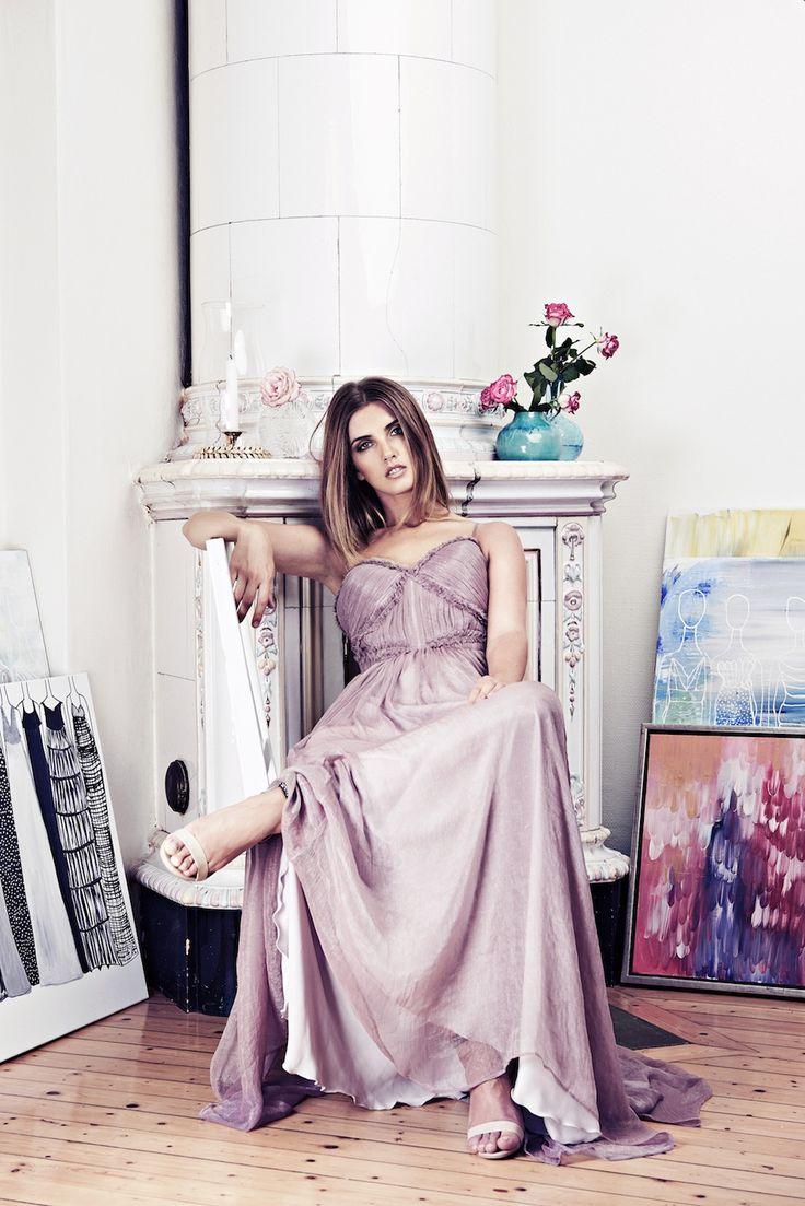Lookbook SS15 Viktoria Chan fashion label, Scandinavian fashion, Balklänning, prom dress, evening dress, Long romantic dress